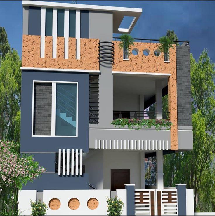 Small House Elevation Design: 409885b248874424a48a1702d2f06578.jpg (736×740)
