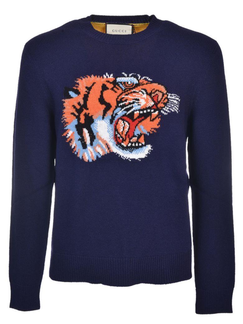 6da85c7c2 GUCCI Gucci Tiger Intarsia Sweater. #gucci #cloth # | Gucci Men ...