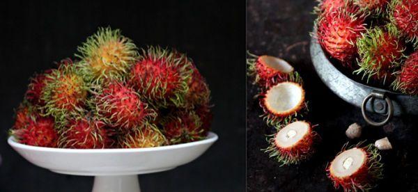 Rambután - Originaria de Malasia, tiene una consistencia parecida a la de la uva y un sabor moderadamente dulce.