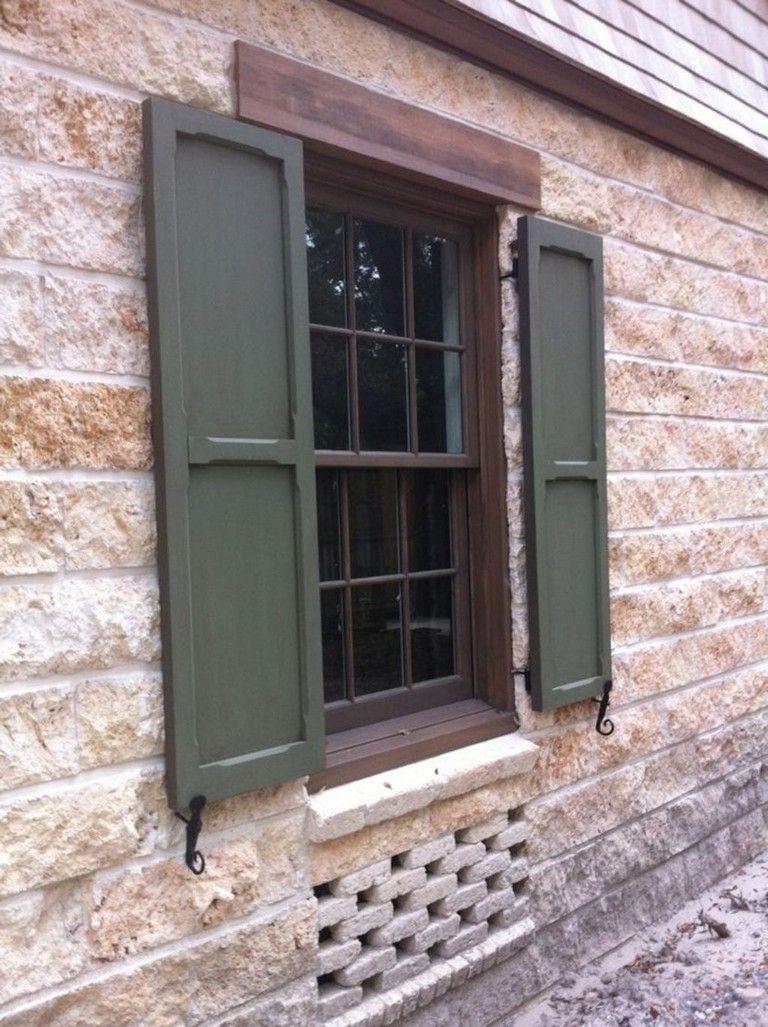35+ Inspiring Exterior Window Shutter Design Ideas #windows ...