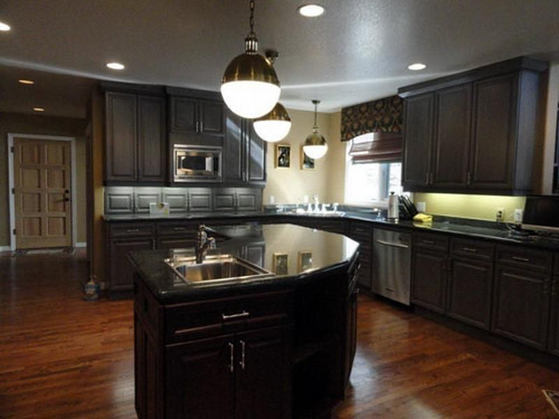 High Quality Kitchen Wall Color Ideas With Dark Cabinetsdark Kitchen Cabinets Wallpaper