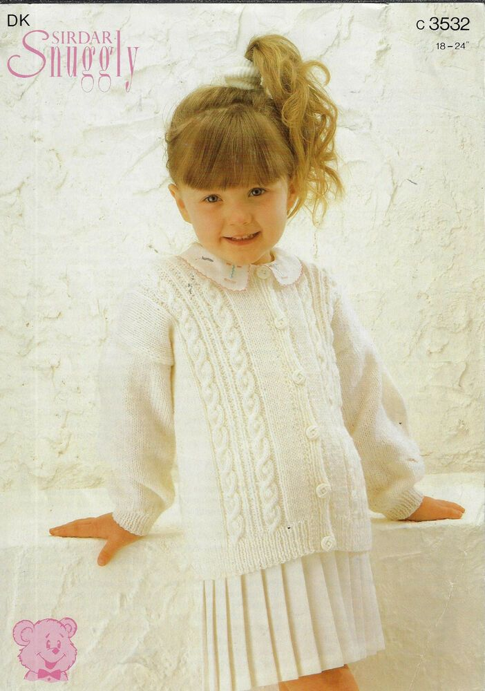 Baby/Child Cable Aran Panel Cardigan Sirdar 3532 knitting ...