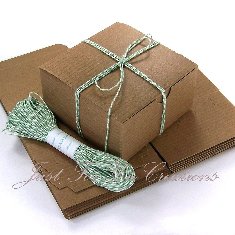 Gift Box Packaging Set 10 Kraft Boxes 4 X4 X2 20 Yards Of Baker S Twine You Choose Color 6 75 Via Etsy Diy Gift Box Gift Box Packaging Diy Gift