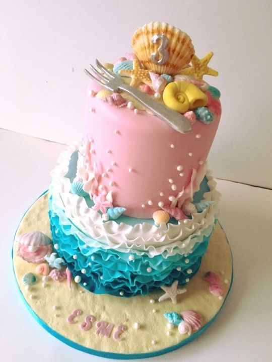 Pleasant Little Mermaid Under The Sea Cake With Images Little Mermaid Cakes Funny Birthday Cards Online Eattedamsfinfo