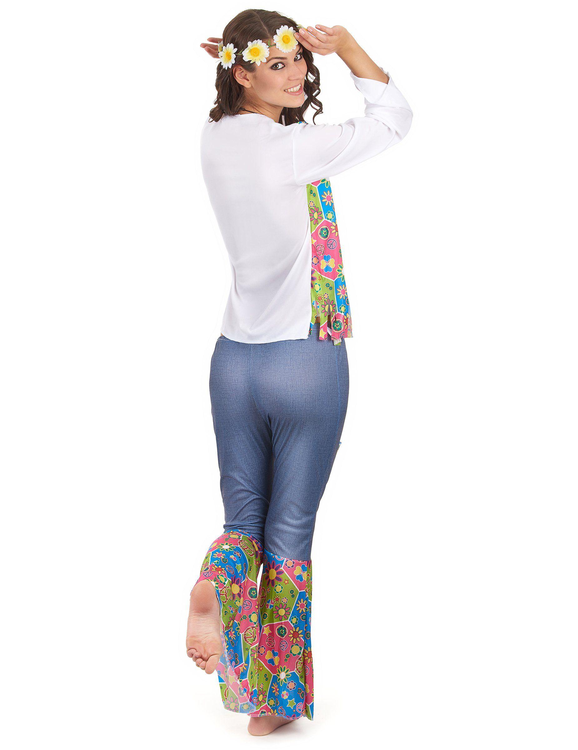 9b00657cec7 Disfraz hippie mujer-2 Disfraz Hippie Mujer, Ropa Hippie, Trajes Hippies,  Vestuario