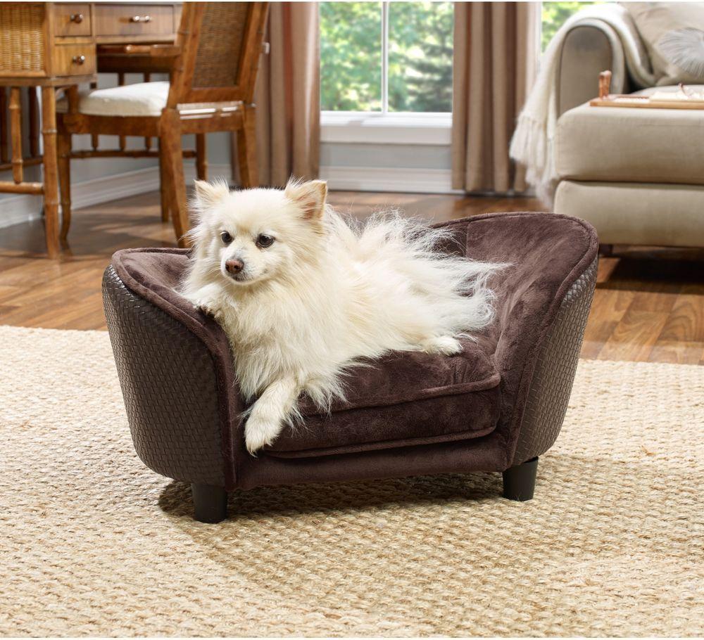 Pooch Pet Bed Small Comfy Ultra Plush Snuggle Dog Cat