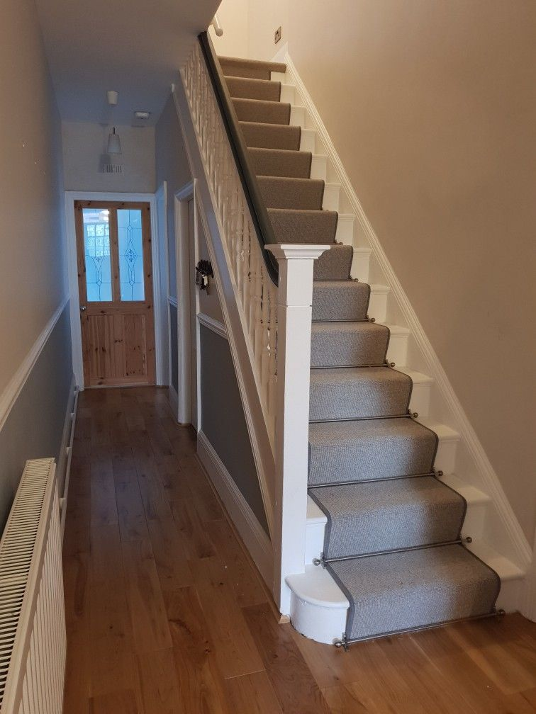 New Runner In Mineral With Stair Bars. Contrast Clean Walks With Feature  Bannister