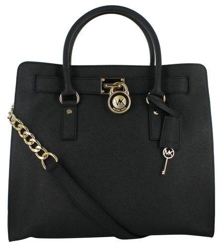 Michael Kors Hamilton Saffiano Tote Women's Handbag Black: Handbags: Amazon.com