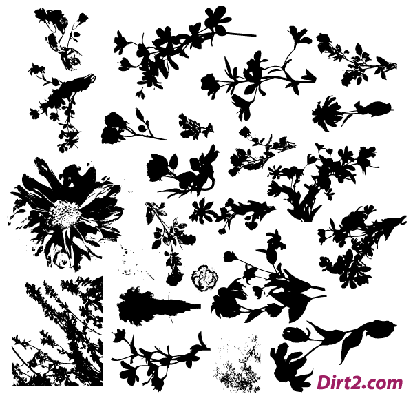 Floral Silhouette Vector Pack Free | Free Vectors | Pinterest ...