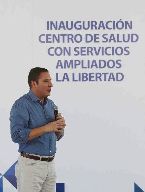 El gobernador Rafael Moreno Valle junto con el alcalde Tony Gali, inauguró el Cessa de La Libertad