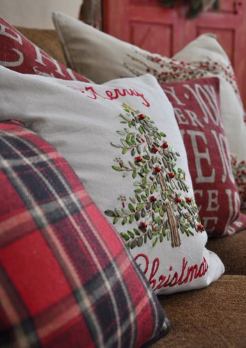 lovely display of pillows!
