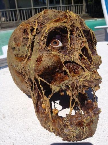 Brad Goodspeed tut for skull Props Pinterest Halloween ideas - diy outdoor halloween props