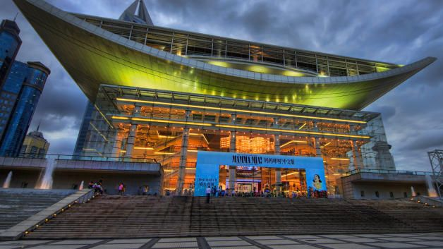 The Shanghai Grand Theatre has hosted various productions such as Mamma Mia and The Lion King.