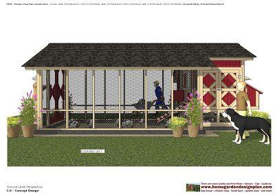 home garden plans: M103 - Chicken Coop Plans Construction - 0920