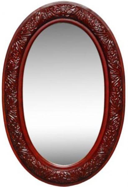 Dreamline DLMBJ-03AC Oval Mirror in Antique Cherry, Solid wood ...