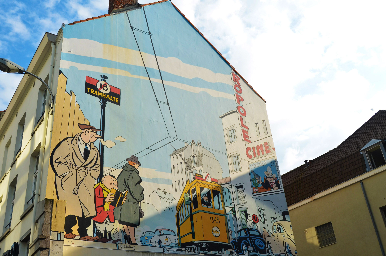 Mural de comic en Bruselas, Bélgica