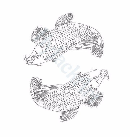 Yin Yang Color Page. Fish Art. Traditional by HyJackArt on Etsy ...