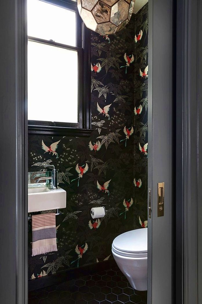Get the New of Black Wallpaper Bathroom for Xiaomi 2020 from myhousemygarden.com