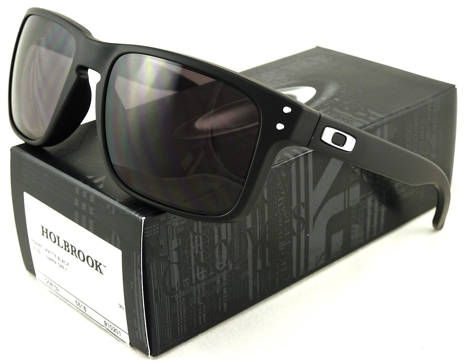 592a9c400f NEW OAKLEY HOLBROOK SUNGLASSES MATTE BLACK / WARM GREY LENS OO9102 ...