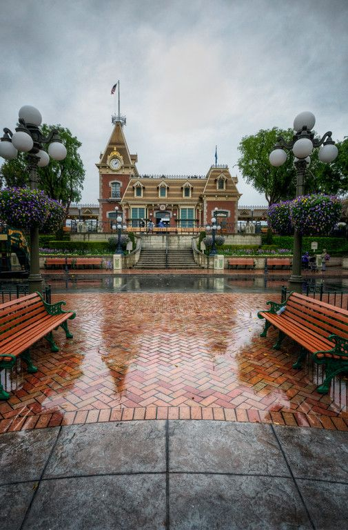 A Stormy Day at the Main Street Depot