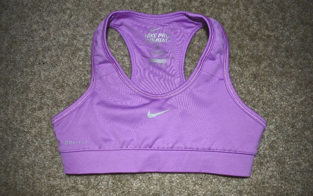 Nike Girls Youth Purple Pro Combat Dri Fit Compression