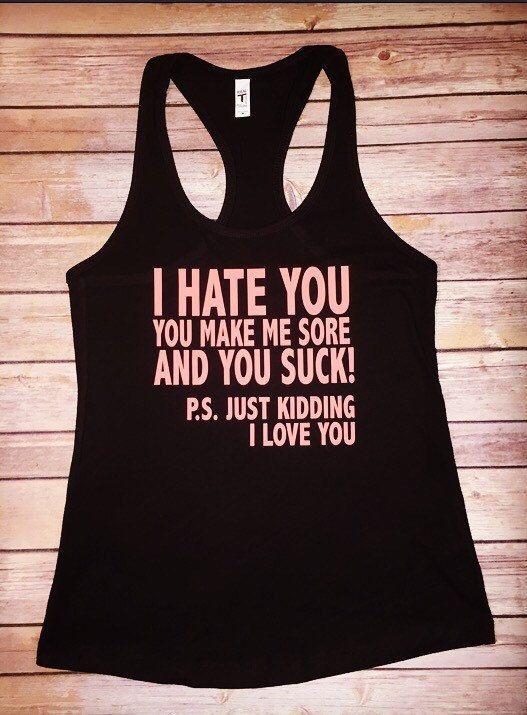 922fde2e053 Training shirt   No Pain No Gain   Workout   Workout Tank for Women ...