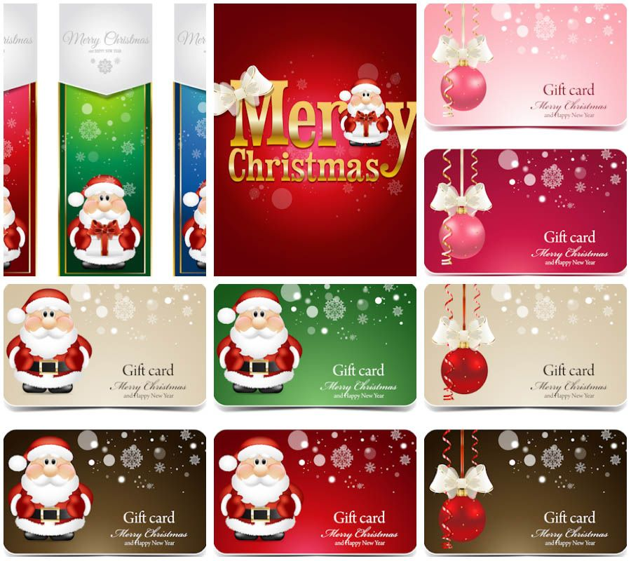 Christmas business cards 2014 vector vector background pinterest christmas business cards 2014 vector reheart Images