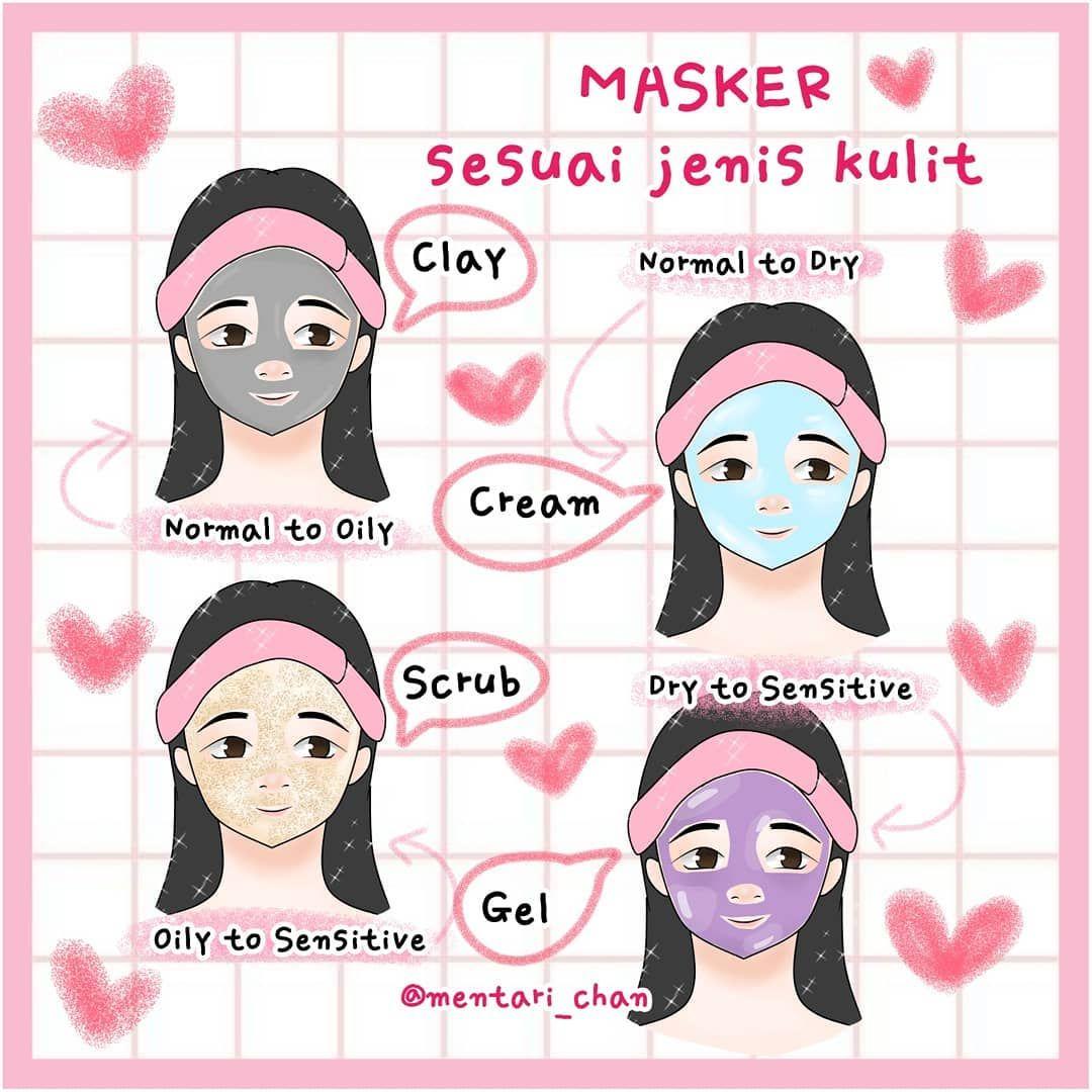 Gunakan Masker Sesuai Jenis Kulit Yah Dear Author Nekota Desu Tutorial Gambarnya Ada Di Youtube Follow Mentari Cha Jenis Kulit Kulit Perawatan Kulit