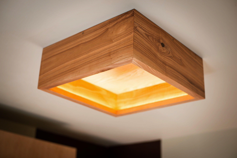 Wood Lamp Box 15 Handmade Ash Wood Ceiling Lamp Lamp Wood