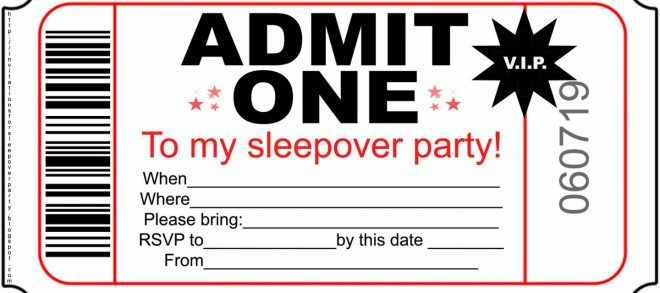Inspiring Printable Sleepover Invitations For Your Extra Ideas