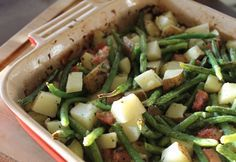 Roasted Potatoes, Green Beans and Ham Casserole (640x442)
