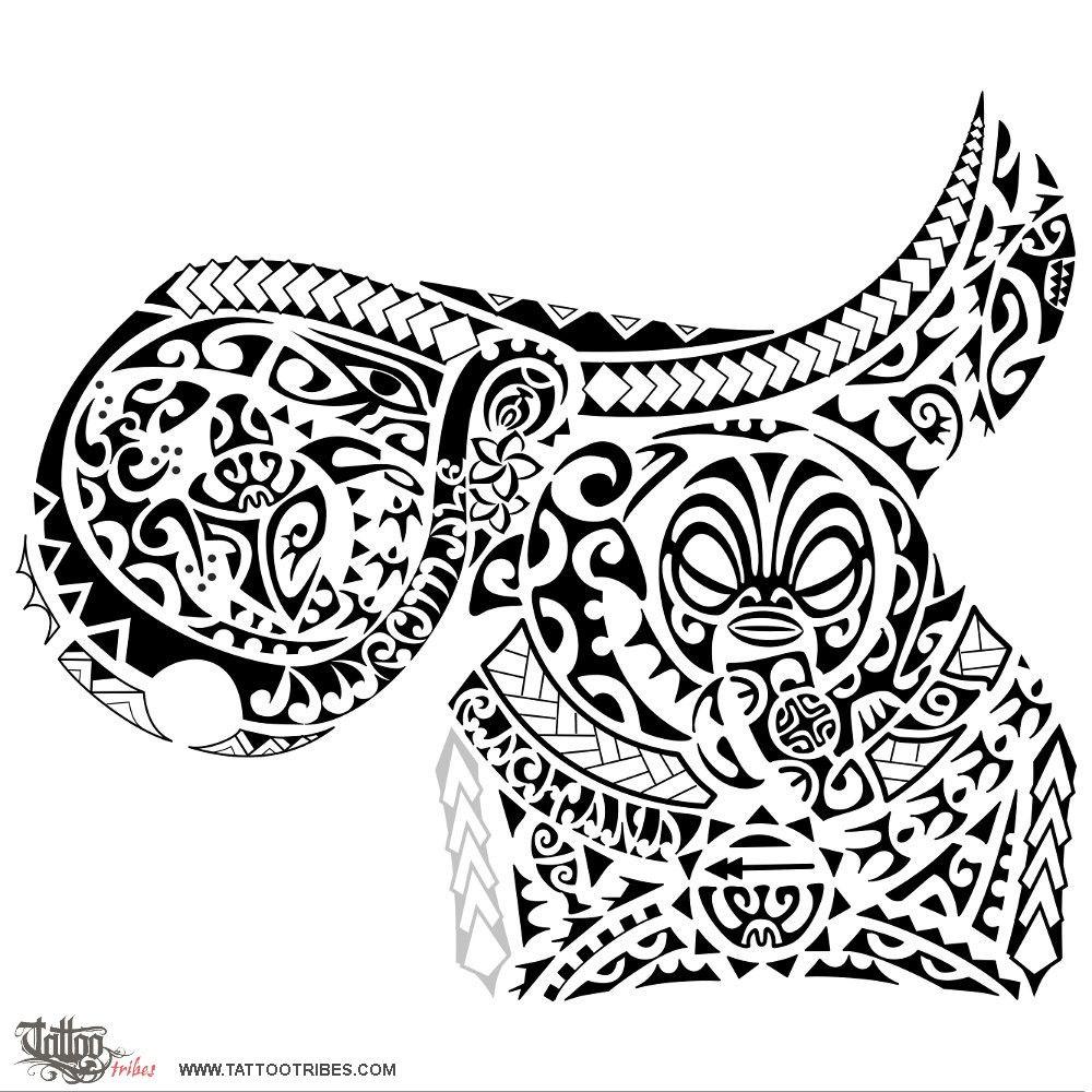Maori Warrior Tattoo Design: Karu. Eye. We Prepared A Pec Tattoo For Girish And Later