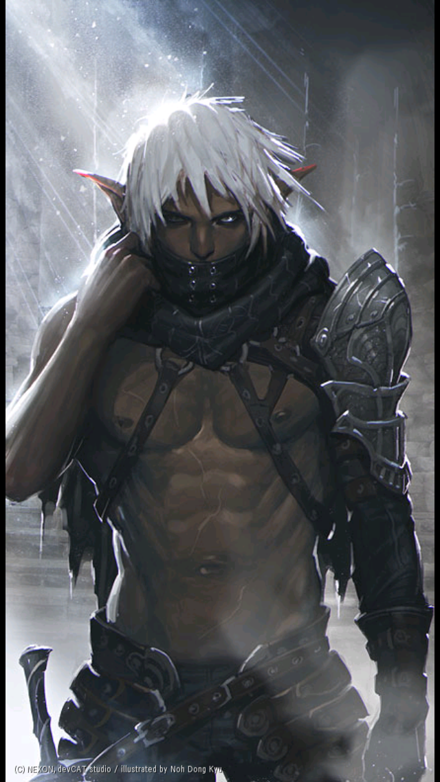 "meninfantasyart: â??Dark Elf by Noh Dong Kyu"" #maleelf #dndmen ..."