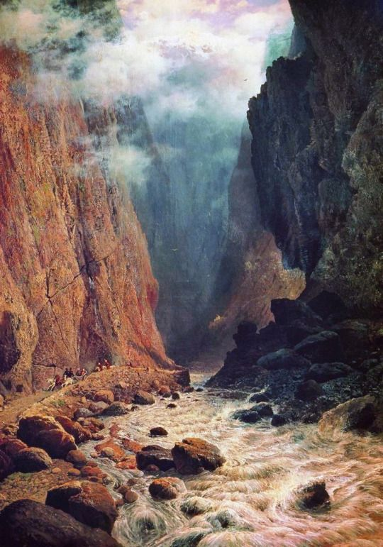 Darial Gorge, 1884 by Rufin Sudkovsky