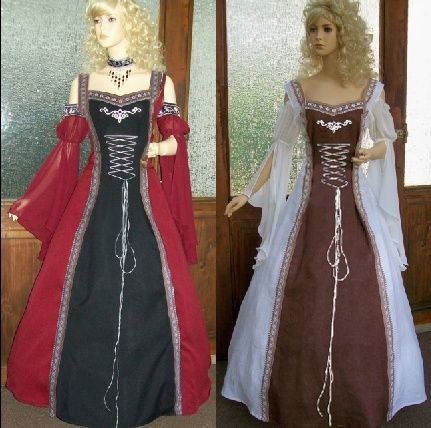 898eb5b845978 Renaissance Vintage Dress Women Style Gothic Dress Floor Length ...