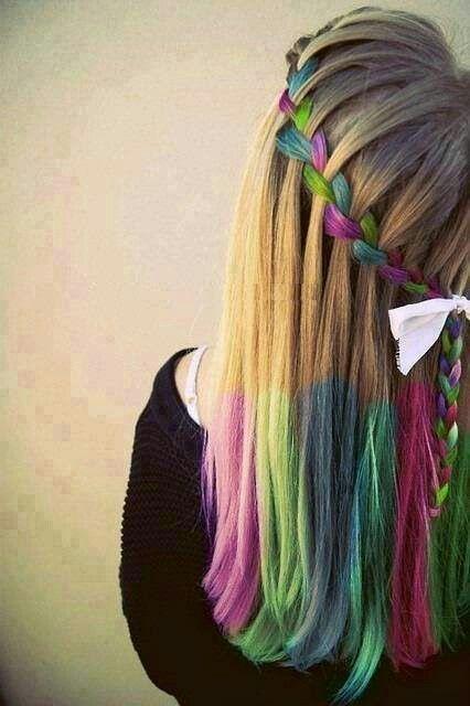 شعر ملون جميله جدا جدا جدا Hair Styles Hair Chalk Hair Makeup