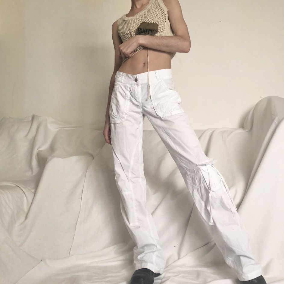 Amazing Crisp White Late 90s Early 00s Y2k Cargo Depop White Cargo Pants Aesthetic Clothes Cargo Pants Aesthetic