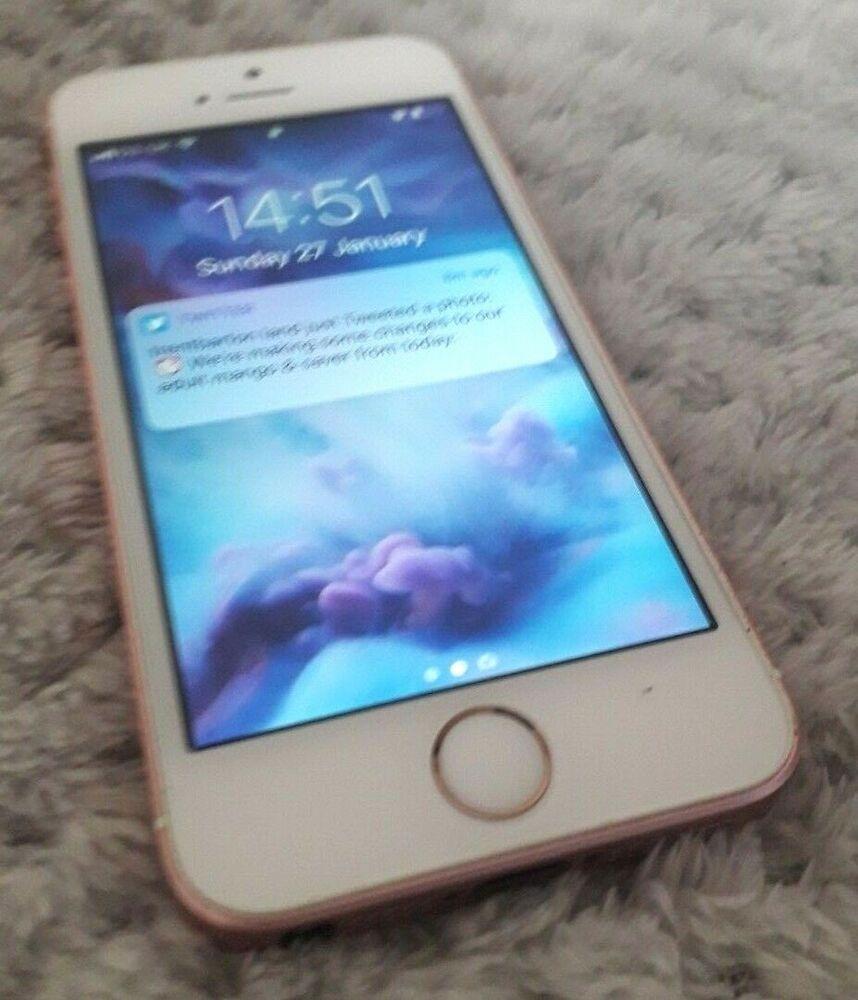 Apple Iphone Se 32gb Rose Gold Unlocked A1723 Cdma Gsm