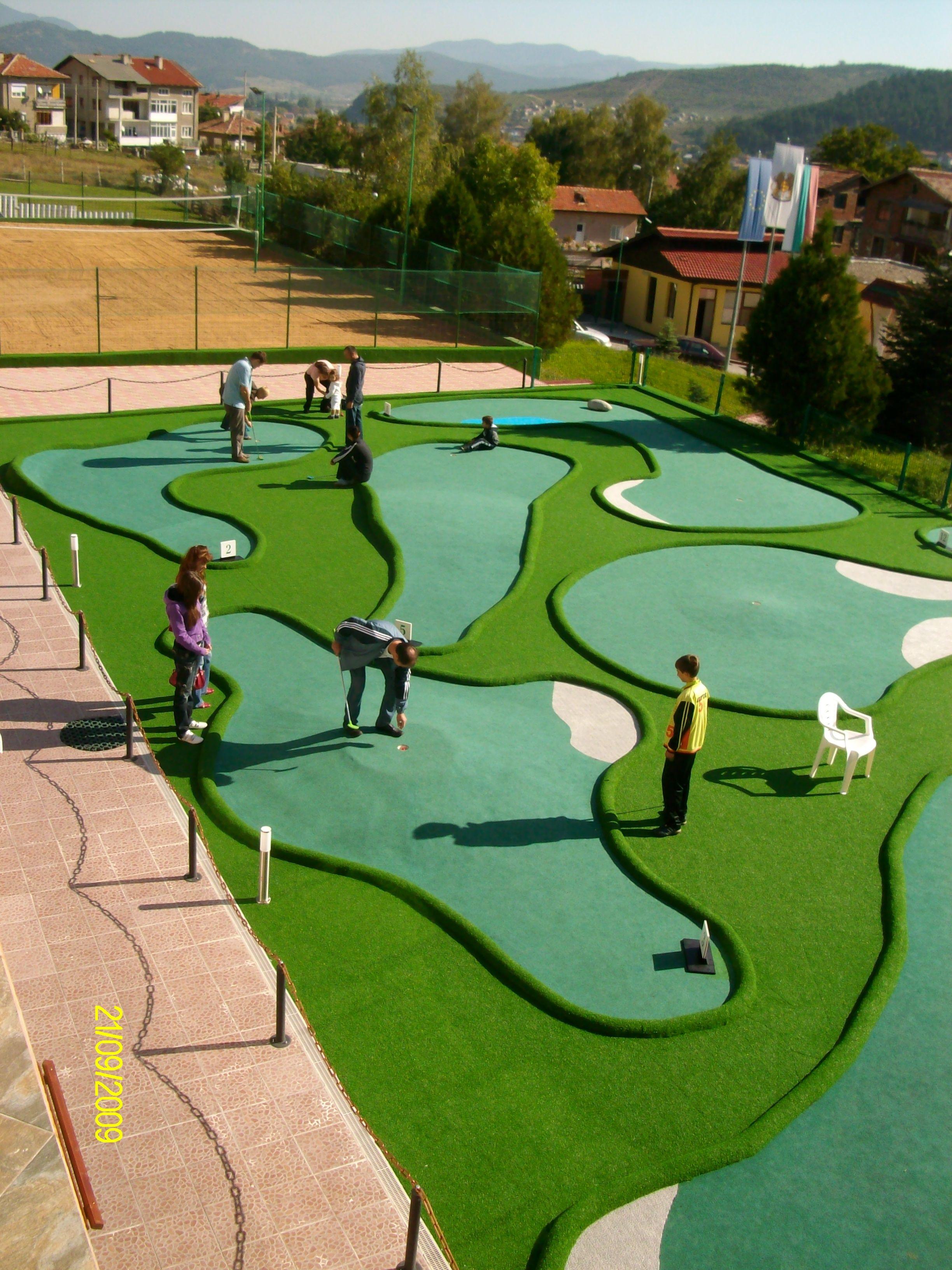 A Course We Have Build Or Made Mini Golf Course Miniature Golf Course Hotel Landscape Mini backyard golf course