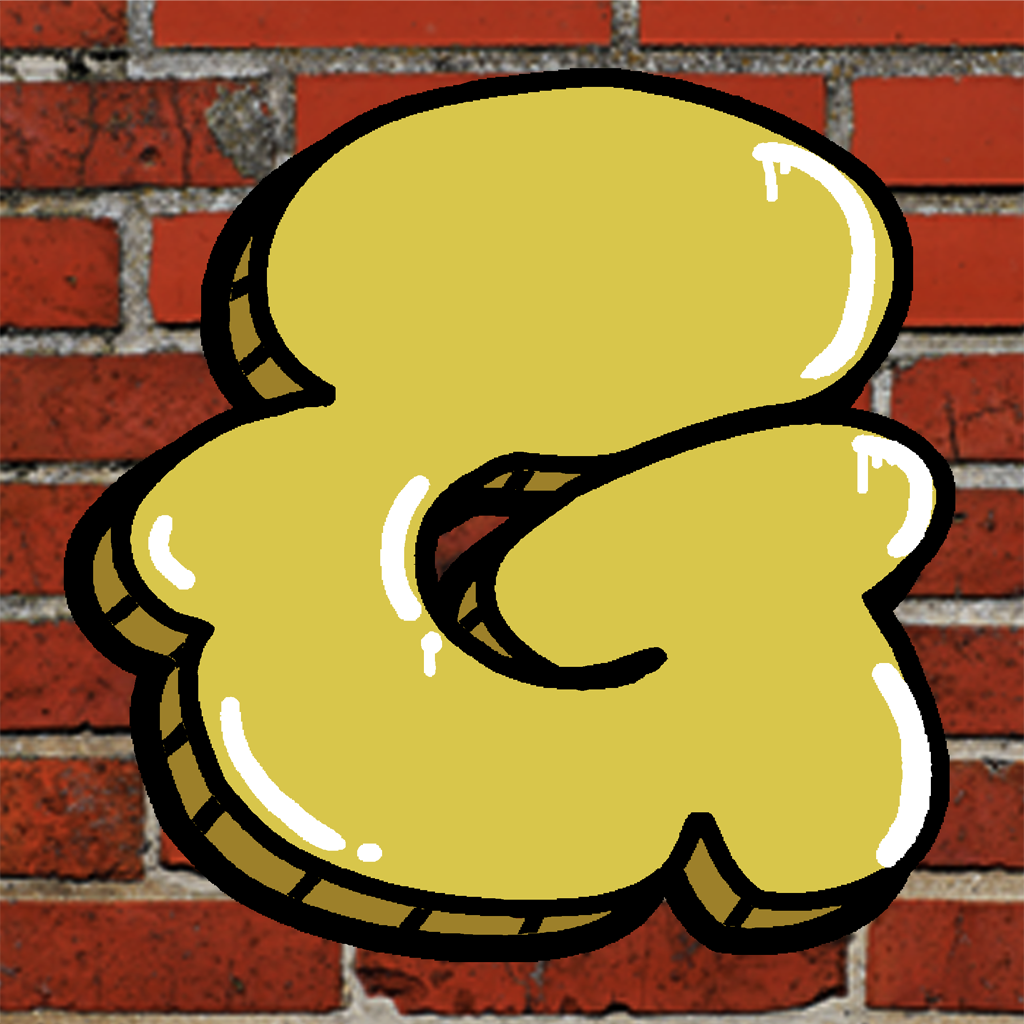 Graffiti Gold Bubble Letters with a drip Gleam shine  Download the