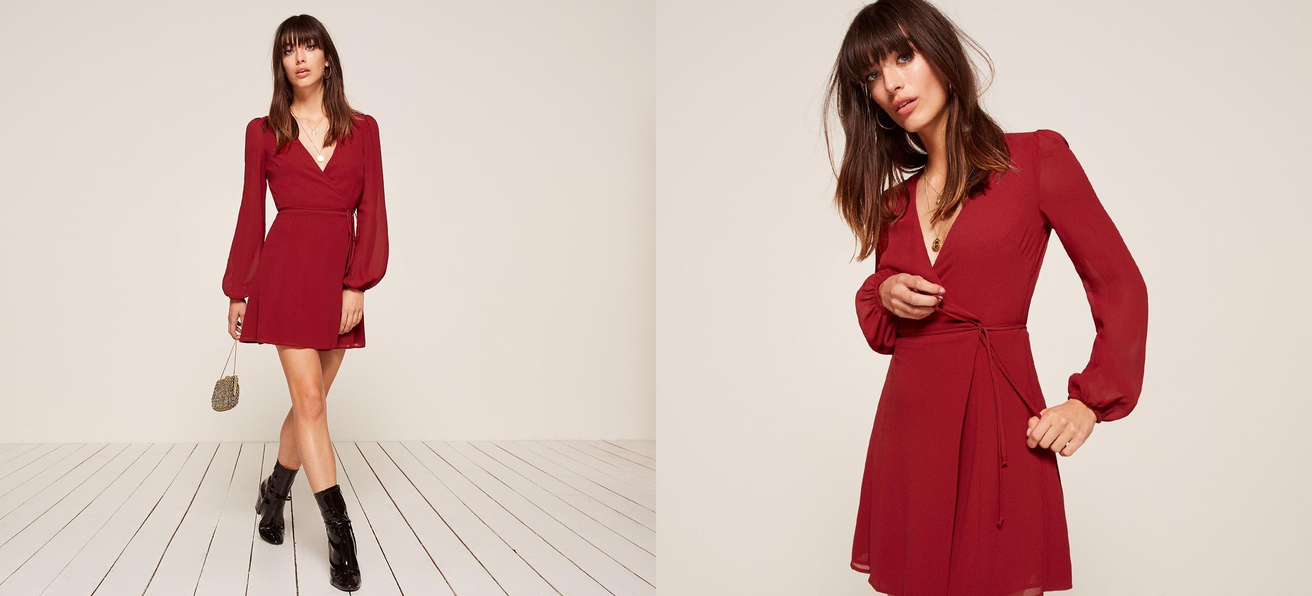 Rosebud dress wrap dresses neckline and legs