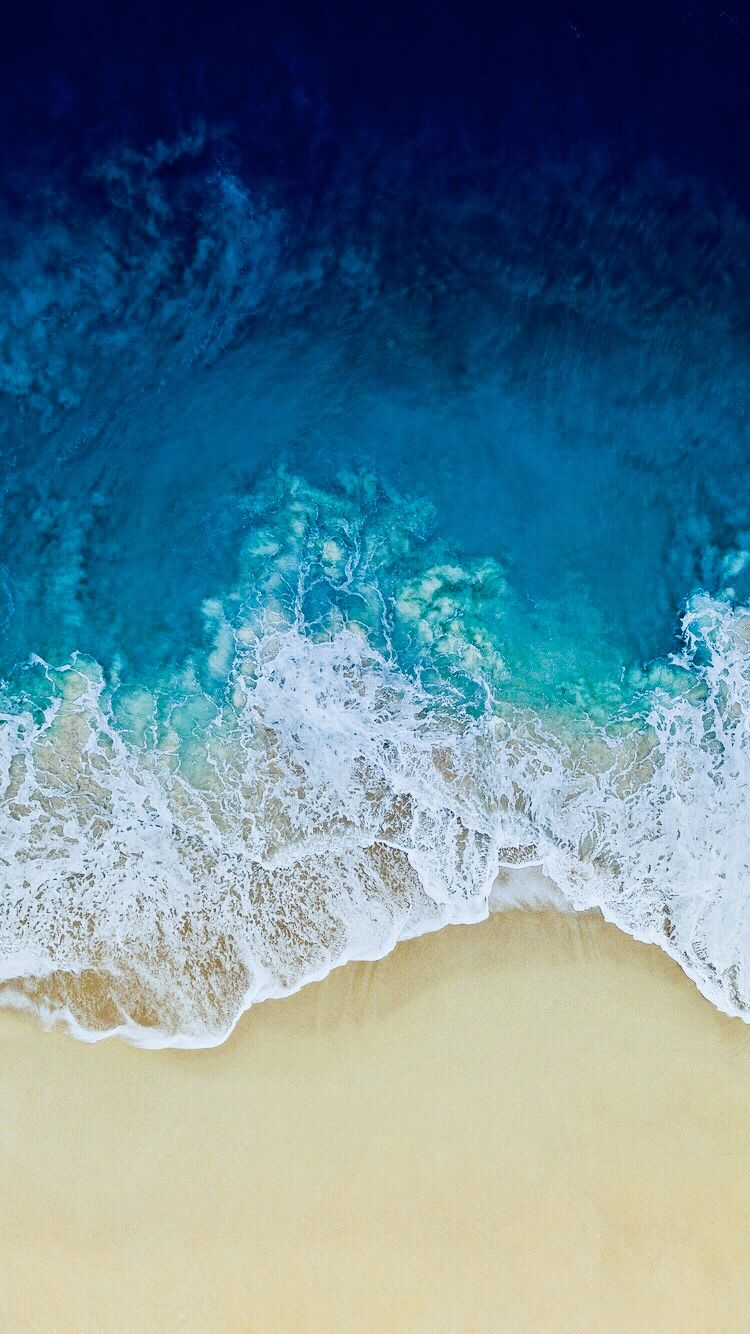 Ios 11 Blue Edit Wallpaper Iphone Summer Ios 11 Wallpaper Beach Wallpaper