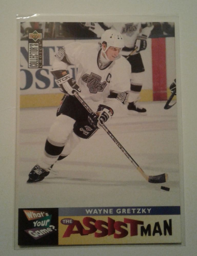 1995 Upper Deck Collector S Choice Wayne Gretzky The Assistman Card 361 Wayne Gretzky Upper Deck Cards