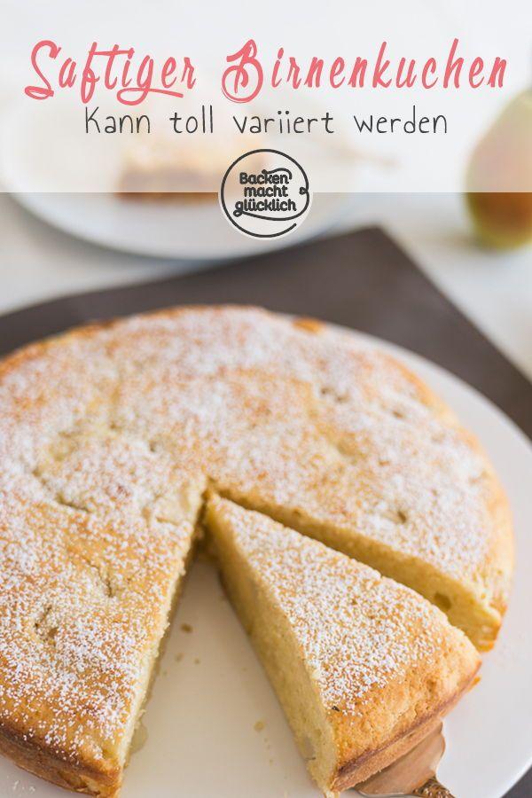 saftiger birnenkuchen rezept geburtstagskuchen rezepte pinterest kuchen birnenkuchen. Black Bedroom Furniture Sets. Home Design Ideas