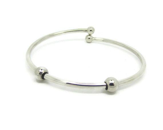 Sterling Silver Bangle Bracelet Sterling Silver by OriginBeads