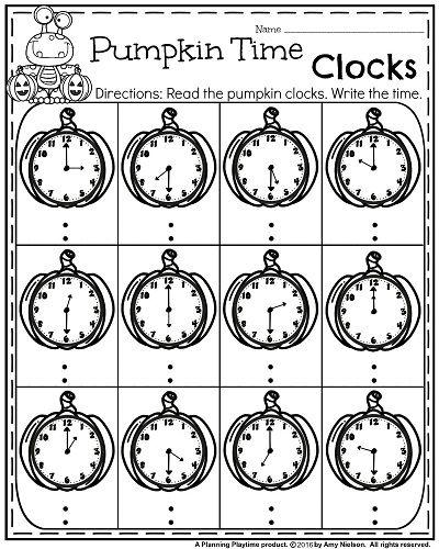 October First Grade Worksheets Telling time, Worksheets and Math - time worksheets