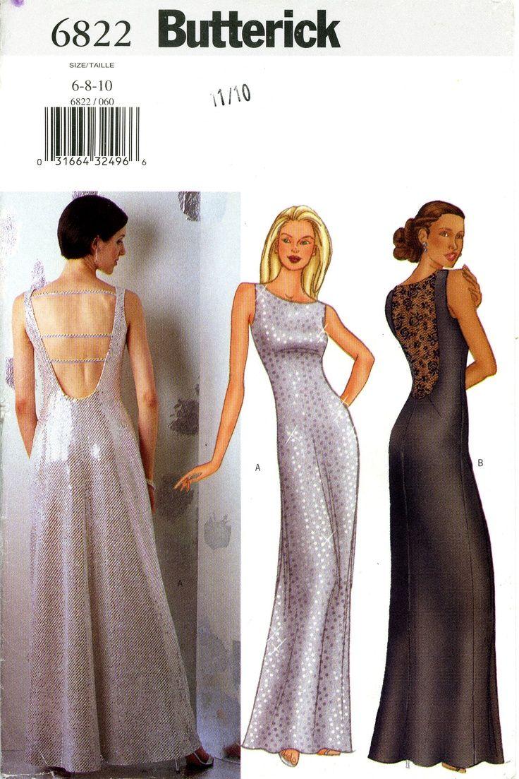 Butterick Prom, Evening Dress Pattern Patterns 1970s Big