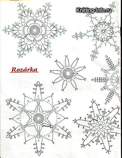 Gehäkelte Schneeflocken #crochetmotif