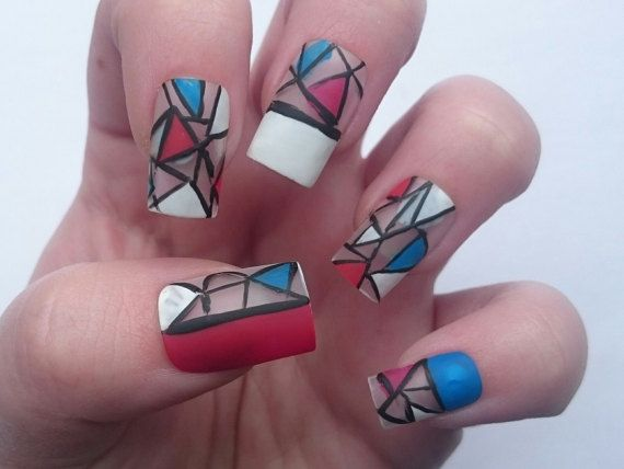 4th Of July Celebration Glue On False Nails By Nicolasnails14