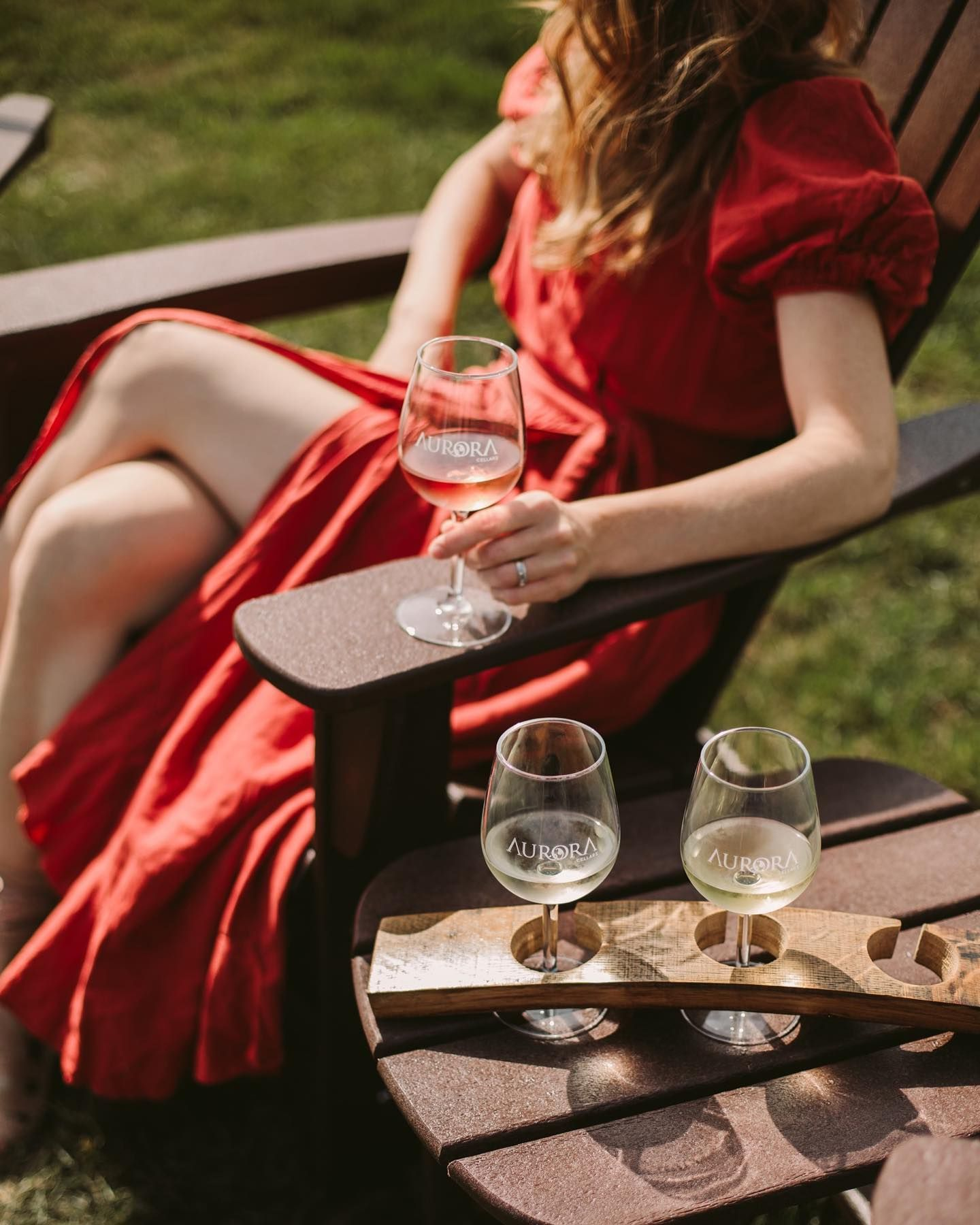 Enjoy A Wine Flight On The Patio Or Lawn Anytime In 2020 Wine Alcoholic Drinks Alcohol
